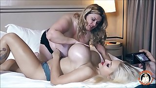 BBW Kimmie KaBoom and Dolly Fox Play With Their Expressed Tits!