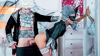 KINKY INLAWS - Halloween taboo fuck with sexy Ukrainian babe Shrima Malati and stepfather
