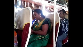 Aunty in bus.. half-shirt nipple visible... Witness carefully 1