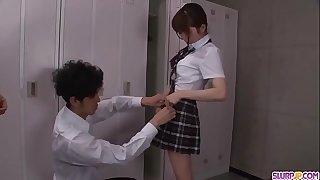 Moe Sakura does blowjob and smallish at school  - More at Slurpjp.com