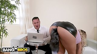 BANGBROS - Latin Mummy Secretary Assh Lee Gets Her Asshole Stretched By Her Boss